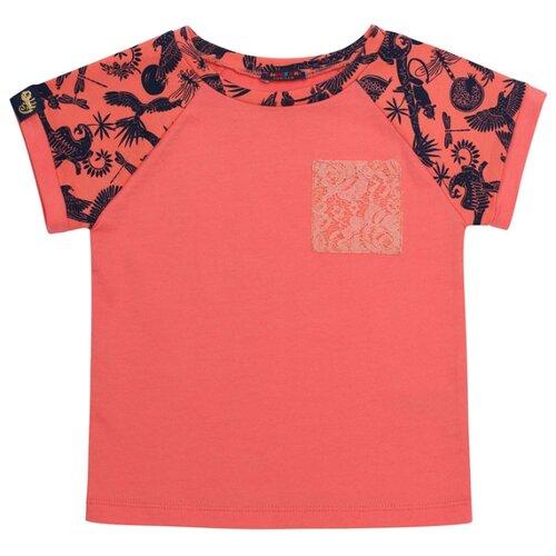 Фото - Футболка Chinzari размер 128/134, коралловый chinzari платье chinzari детское трикотажное италия рыбки 128 134