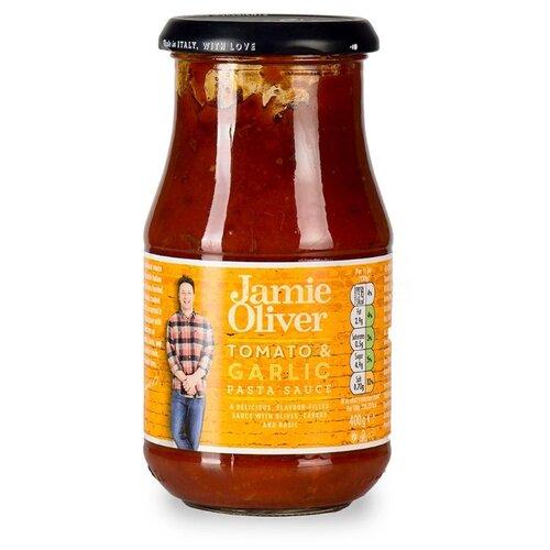 remia smokin jones bbq соус с чесноком 450 мл Соус Jamie Oliver Томатный с оливками и чесноком, 400 г