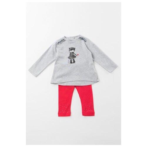 Купить Комплект одежды Sarabanda размер 74, серый/красный, Комплекты