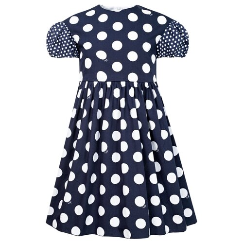 Платье Il Gufo размер 92, синий/горошек