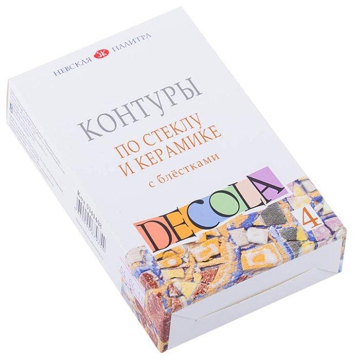 Контур Невская палитра Decola по стеклу и керамике 5341408 4 цв. (18 мл.)