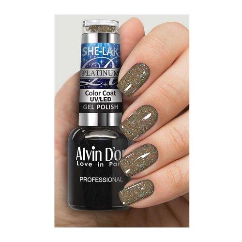Купить Гель-лак для ногтей Alvin D'or She-Lak Platinum, 8 мл, оттенок 7319