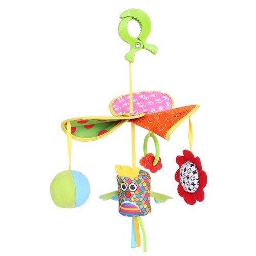 Купить Подвесная игрушка Biba Toys Журавленок (BM178) желтый/зеленый/красный, Подвески