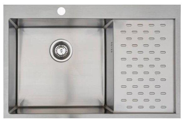 Купить Врезная кухонная мойка 78 см Seaman ECO Marino SMB-7851PRS.A матовая нержавеющая сталь по низкой цене с доставкой из Яндекс.Маркета