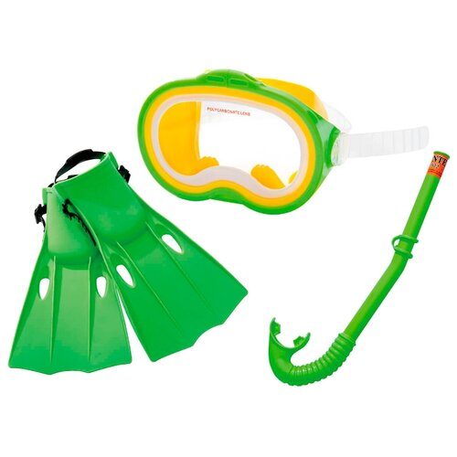 Набор для плавания с ластами Intex Master сlass 55955 зеленый