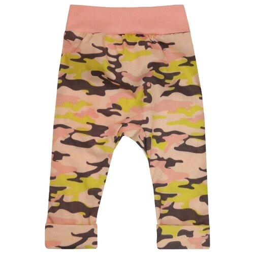 Купить Брюки KotMarKot 5030218 размер 62, хаки/розовый, Брюки и шорты