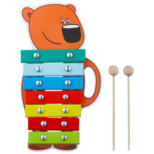 Купить Alatoys ксилофон Кеша BBW005 коричневый/зеленый/голубой, Детские музыкальные инструменты