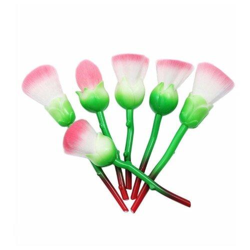 Фото - Набор кистей Bdvaro Роза, 6 шт. зеленый/красный/белый/розовый набор крошка я 2912774 6 шт розовый зеленый красный