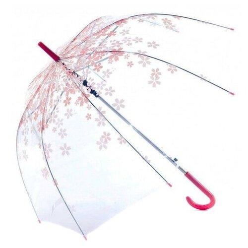 Зонт-трость механика BRADEX Нежность SU 0045 розовый/прозрачный