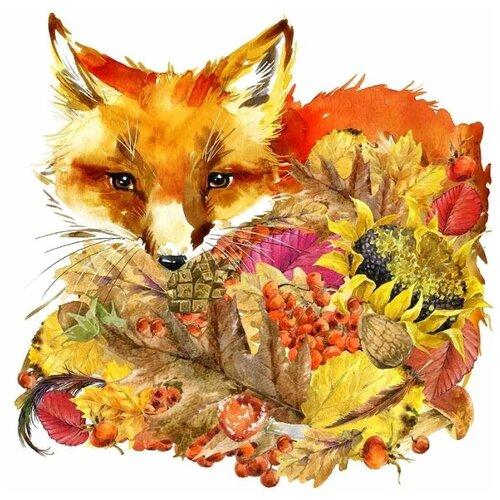 Купить Матрёнин Посад Набор для вышивания бисером Осенний лис 28 х 34 см (0136/Б), Наборы для вышивания