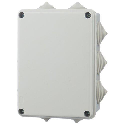 Распределительная коробка IEK KM41242 наружный монтаж 150x110 мм серый RAL 7035