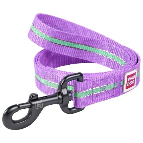 Поводок для собак WAU DOG Nylon фиолетовый 1.22 м 15 мм