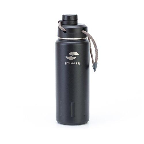 Термобутылка STINGER HD-710-46 (0,71 л) черный карбон защита дверных карманов войлок карбон kst dvpm 01 для kia stinger 2018