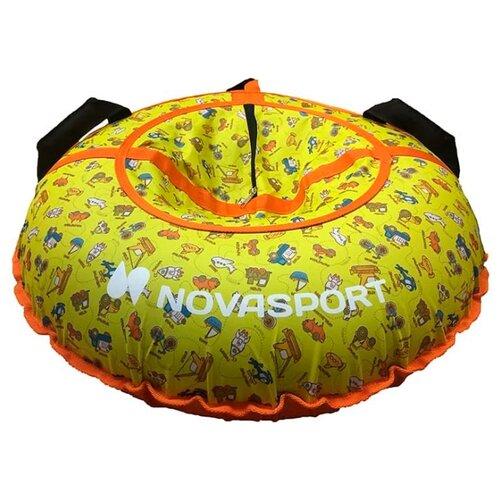 Тюбинг NovaSport CH030.080 (80 см) оранжевый/желтый (детские игрушки)
