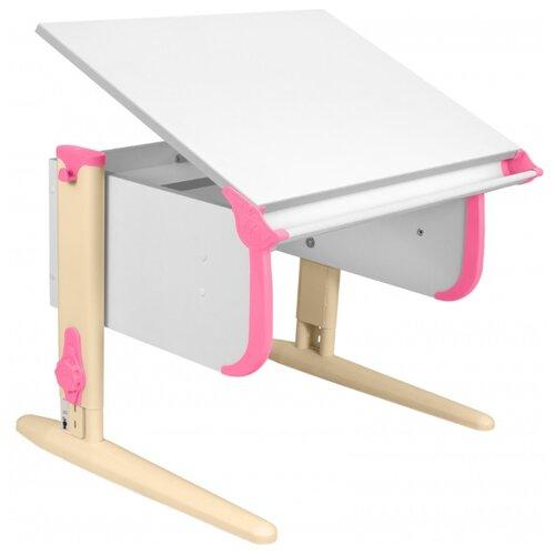Купить Стол ДЭМИ СУТ-24 75x55 см белый/розовый/бежевый, Парты и столы