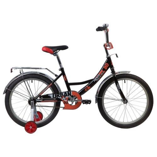 Детский велосипед Novatrack Urban 20 (2020) черный (требует финальной сборки) велосипед ghost square urban 6 2016