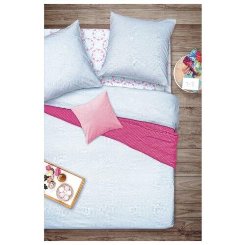 Постельное белье евростандарт Sova & Javoronok Фламинго, бязь, 50 х 70 см розовый/голубой постельное белье 1 5сп sova