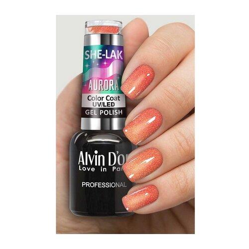 Купить Гель-лак для ногтей Alvin D'or She-Lak Aurora, 8 мл, оттенок 7010