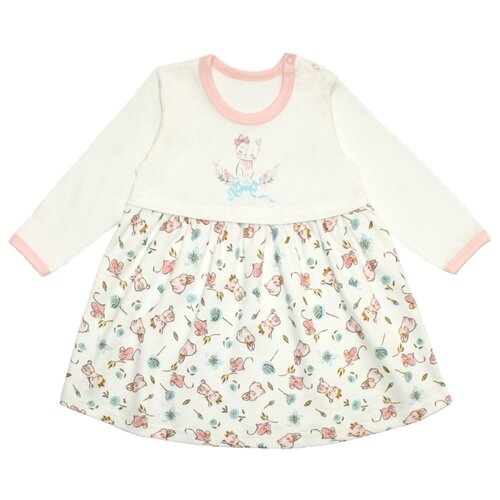 Платье Веселый Малыш размер 92, розовый