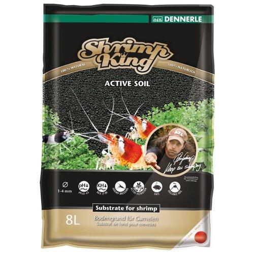Грунт Dennerle Shrimp King Active Soil 8 л черный