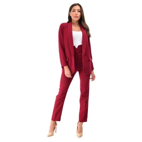 Женский классический костюм двойка укороченные брюки с завышенной талией удлиненный прямой пиджак оверсайз oversize