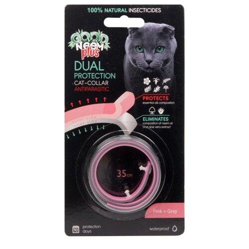 GOOD NEEM ошейник от блох и клещей Plus двухслойный для кошек и котят, 35 см, розовый