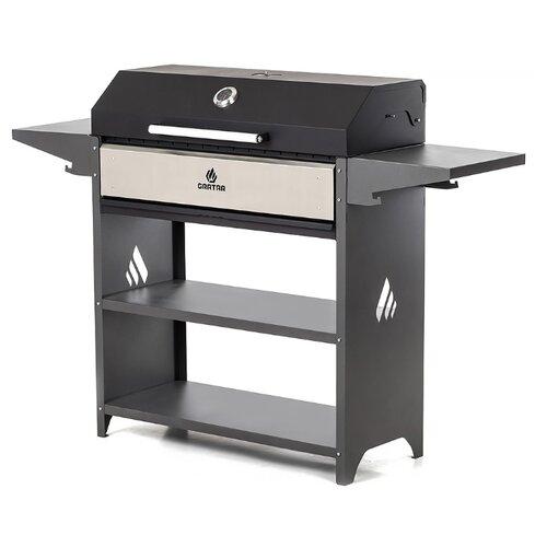 Угольный гриль Gratar Professional Optima BBQ, черный/серый