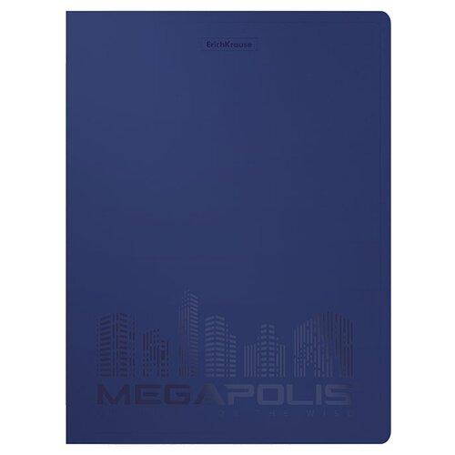 Фото - ErichKrause Папка файловая с 40 карманами MEGAPOLIS A4, 4 штуки синий erichkrause папка файловая с 40 карманами на спирали metallic а4 разноцветный