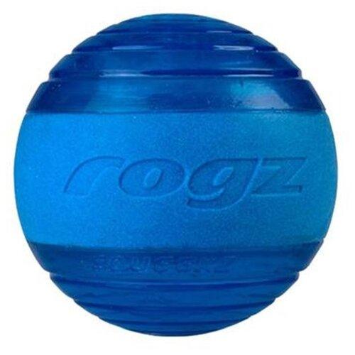 Фото - Мячик для собак Rogz Squeekz синий rogz rogz мяч поймай меня squeekz прыгает на земле плавает в воде 64 мм оранжевый