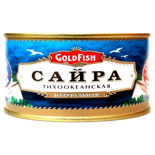 GoldFish Сайра тихоокеанская натуральная, 240 г