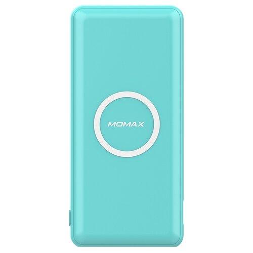 Аккумулятор MOMAX Q.Power Minimal Wireless 10000 mAh, голубой аккумулятор momax ipower air белый коробка