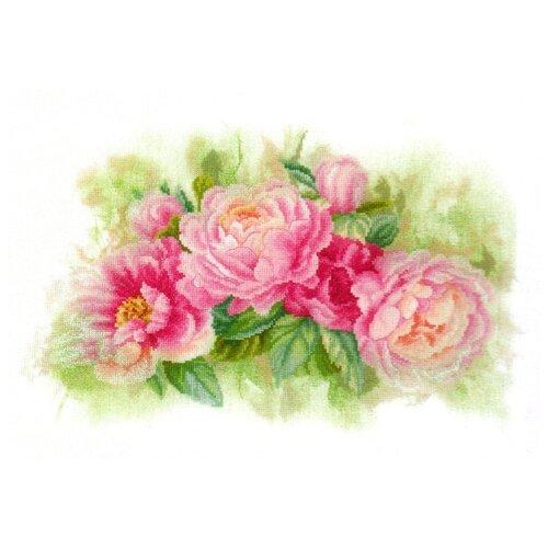 Купить Lanarte Набор для вышивания Букет пионов 41 х 26 см (PN-0170933), Наборы для вышивания