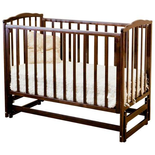 Купить Кроватка Красная Звезда Кристина С619 (классическая), продольный маятник шоколад, Кроватки