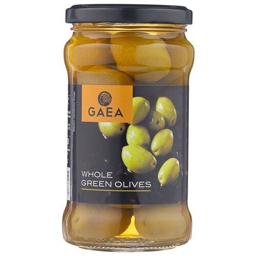 Gaea Оливки Халкидики в маринаде с косточкой, стеклянная банка 300 г gaea оливки зеленые с миндалем 295 г