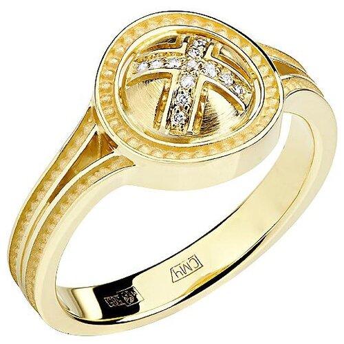 Эстет Кольцо с 13 бриллиантами из жёлтого золота 01К638743, размер 17