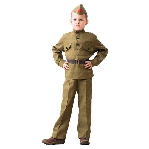 Купить Костюм Бока Военная форма Солдат, хаки, размер 122-134, Карнавальные костюмы