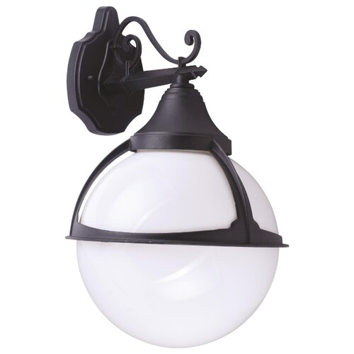 Arte Lamp Уличный настенный светильник Monaco A1492AL-1BK уличный светильник arte lamp a3302al 1bk
