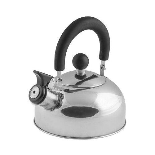 Чайник со свистком, нержавеющая сталь, 1.2 л, серия Holiday, серебристый металлик, PERFECTO LINEA (диаметр 16,5 см, высота 13,5 см, общий объем издел