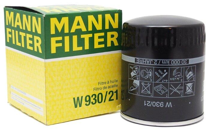 Масляный фильтр MANNFILTER W930/21