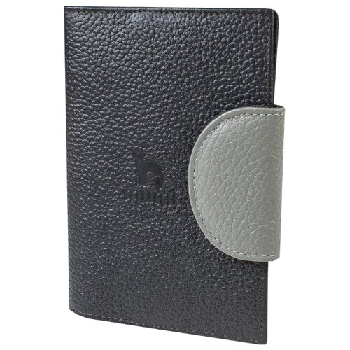 Обложка для паспорта Mumi серый 160-26, натуральная кожа