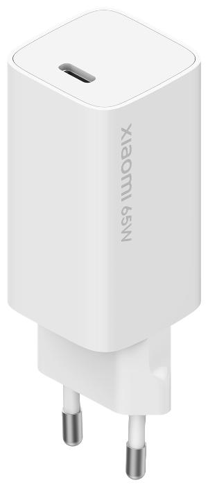 Сетевая зарядка Xiaomi Mi 65W Fast Charger with GaN Tech, белый фото 1