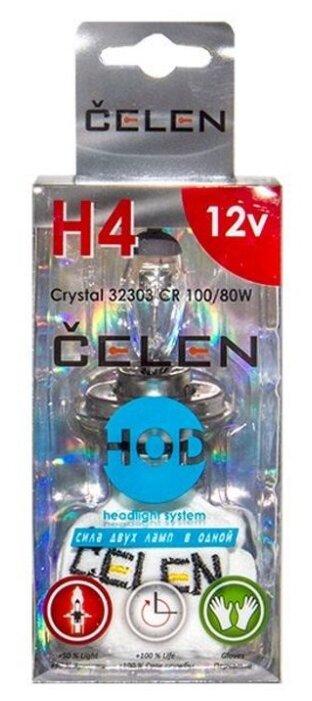Лампа автомобильная галогенная CELEN HOD Crystal +50% H4 32303 CR 12V 100/80W 1 шт.