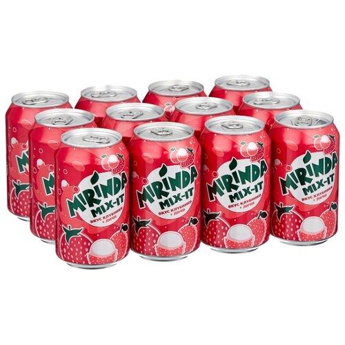 Газированный напиток Mirinda Mix-It Клубника-Личи, 0.33 л, 12 шт.