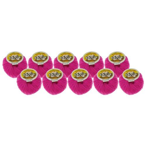 Купить Пряжа Adelia Claire, 50 % шерсть, 50 % акрил, 50 г, 138 м, 10 шт., №206 яр.сиренево-розовый