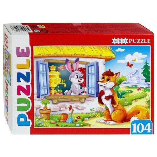 Фото - Пазл Рыжий кот Artpuzzle Заюшкина избушка (ПА-4543), 104 дет. коробка рыжий кот 33х20х13см 8 5л д хранения обуви пластик с крышкой