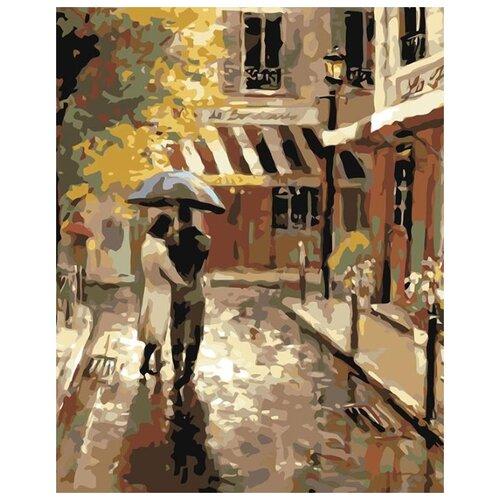 Купить Картина по номерам Живопись по Номерам Пара под зонтом 2 , 40x50 см, Живопись по номерам, Картины по номерам и контурам