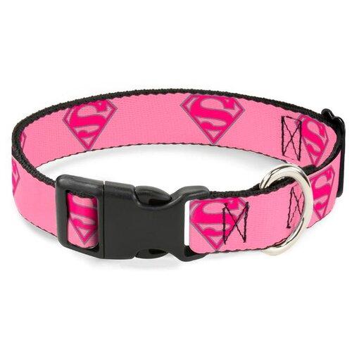 Buckle-Down с пластиковой застёжкой Супермен 28-43 см розовый