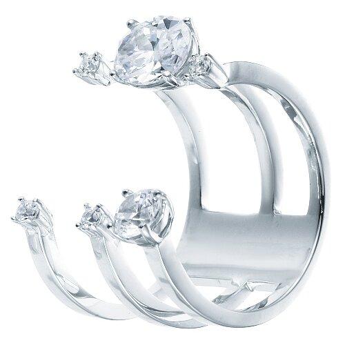 Фото - ELEMENT47 Широкое ювелирное кольцо из серебра 925 пробы с кубическим цирконием F-640R_001_WG, размер 16 element47 широкое ювелирное кольцо из серебра 925 пробы с кубическим цирконием f 642r 001 wg размер 16