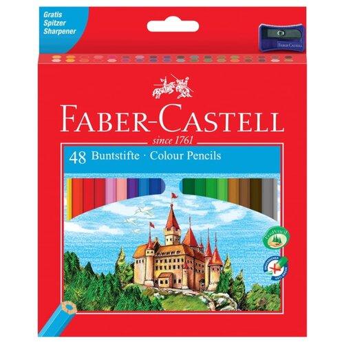Купить Faber-Castell Карандаши цветные Замок с точилкой 48 цветов (120148), Цветные карандаши