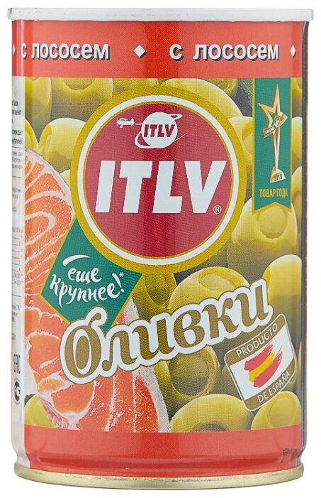 ITLV Оливки зеленые с лососем в рассоле, жестяная банка 300 г 314 мл